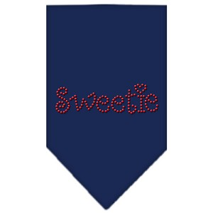 Sweetie Rhinestone Bandana Navy Blue large
